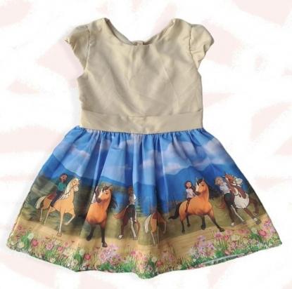 Vestido Cavalos Infantil