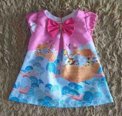 Vestido Curto Arca de Noé Infantil