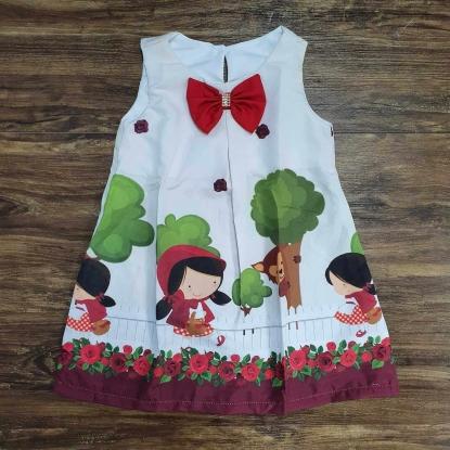 Vestido Curto Chapeuzinho Vermelho Infantil