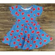 Vestido Curto Corações Infantil