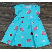 Vestido Curto Frutas Infantil