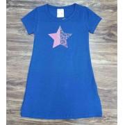 Vestido Curto Star Azul Infantil