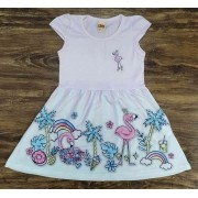 Vestido Flamingo Infantil
