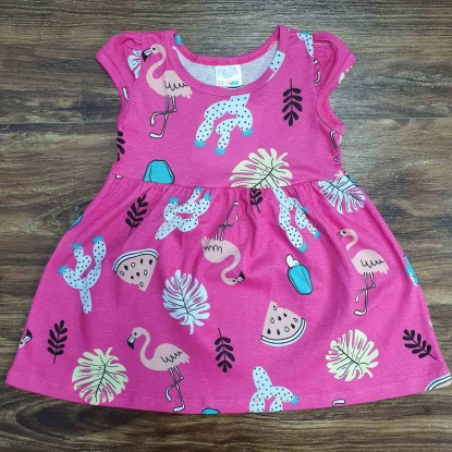 Vestido Flamingo Rosa Infantil