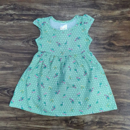 Vestido Floral Verde Infantil