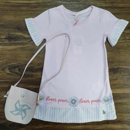 Vestido Flower Power Rosa Infantil