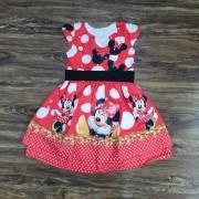 Vestido Vermelho Minnie Infantil