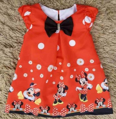 Vestido Curto Minnie Infantil