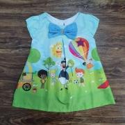 Vestido Mundo Bita Balão Infantil