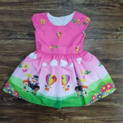 Vestido Mundo Bita Rosa Infantil