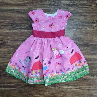 Vestido Peppa Pig Rosa Infantil