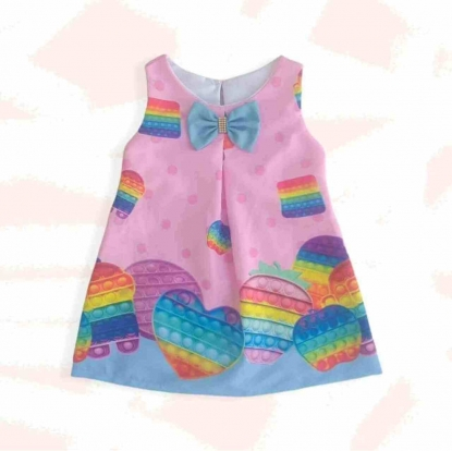 Vestido Pop Tt Fidget Toy Infatil