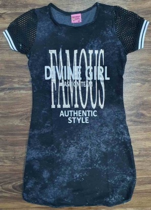 Vestido Preto Divine Girls Infantil