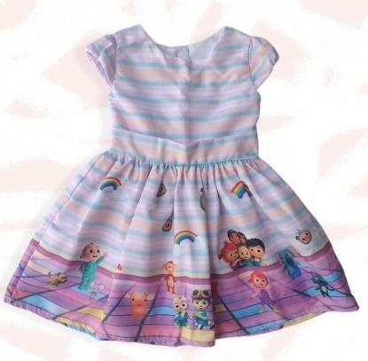 Vestido Rosa Cocomelon Infantil