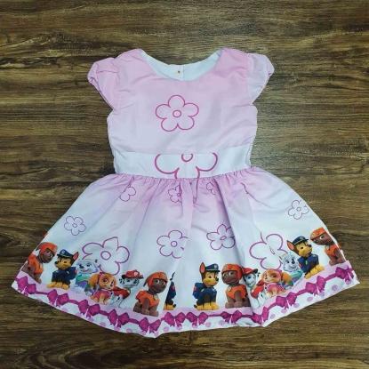 Vestido Rosa Patrulha Canina Infantil