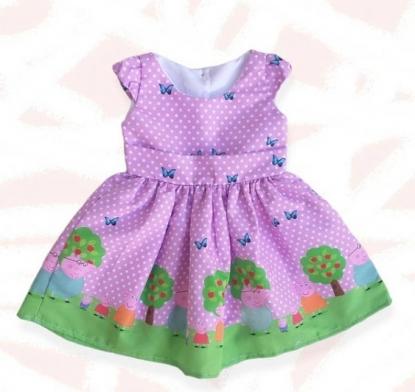 Vestido Rosa Peppa Pig Infantil
