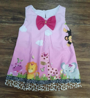 Vestido Curto Safari Infantil