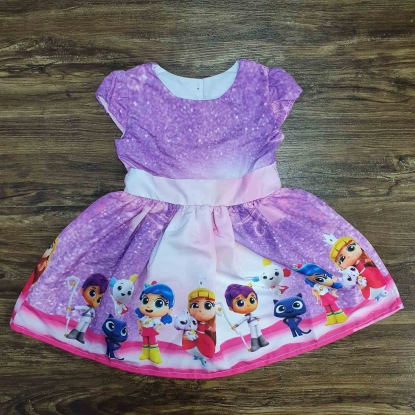 Vestido Vera e o Reino do Arco Íris Infantil