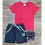 Bermuda Basket com Camiseta Infantil