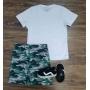 Bermuda Camuflada com Camiseta Infantil