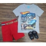 Bermuda com Camiseta Hot Wheels Infantil