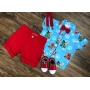 Conjunto Vermelha Patrulha Canina Azul Infantil