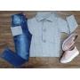 Blazer Cinza com Calça Jeans Infantil