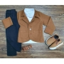 Blazer com Polo e Calça Jeans Preta Infantil