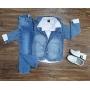 Blazer Jeans Claro com Camisa e Calça Jeans Infantil