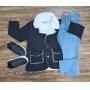 Blazer Preto Com Calça Jeans Infantil
