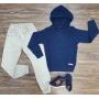 Blusa/Tricot com Capuz e Calça Jogger Infantil