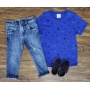 Calça Jeans com Camiseta Azul