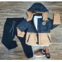 Calça Jogger com Jaqueta MK College mais Camiseta Infantil