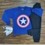 Camiseta Capitão América com Calça Moletom Infantil