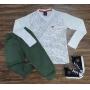 Camiseta Folhas com Calça Infantil