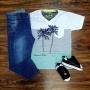 Camiseta Summer com Calça Infantil