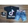 Camiseta Tik Tok com Bermuda Infantil