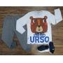 Camiseta Urso com Calça Moletom Infantil