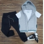 Colete mais Camiseta com Calça Jogger Infantil