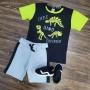 Conjunto Bermuda com Camiseta Dino Infantil