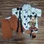 Conjunto Branco e Marrom Mickey Safari Infantil