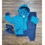 Conjunto Moletom Dinossauro Azul Infantil