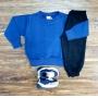 Conjunto Moletom Blusa Azul Infantil