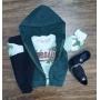 Jaqueta com Camiseta Dino e Calça Infantil