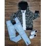 Jaqueta Com Camiseta e Calça Jeans Clara Infantil