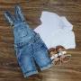 Jardineira com Camisa Polo Infantil