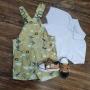 Look Safari Polo Branca Infantil