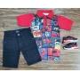 Polo Homem Aranha com Bermuda Jeans Infantil