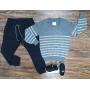 Suéter Listrado com Calça Jogger Infantil