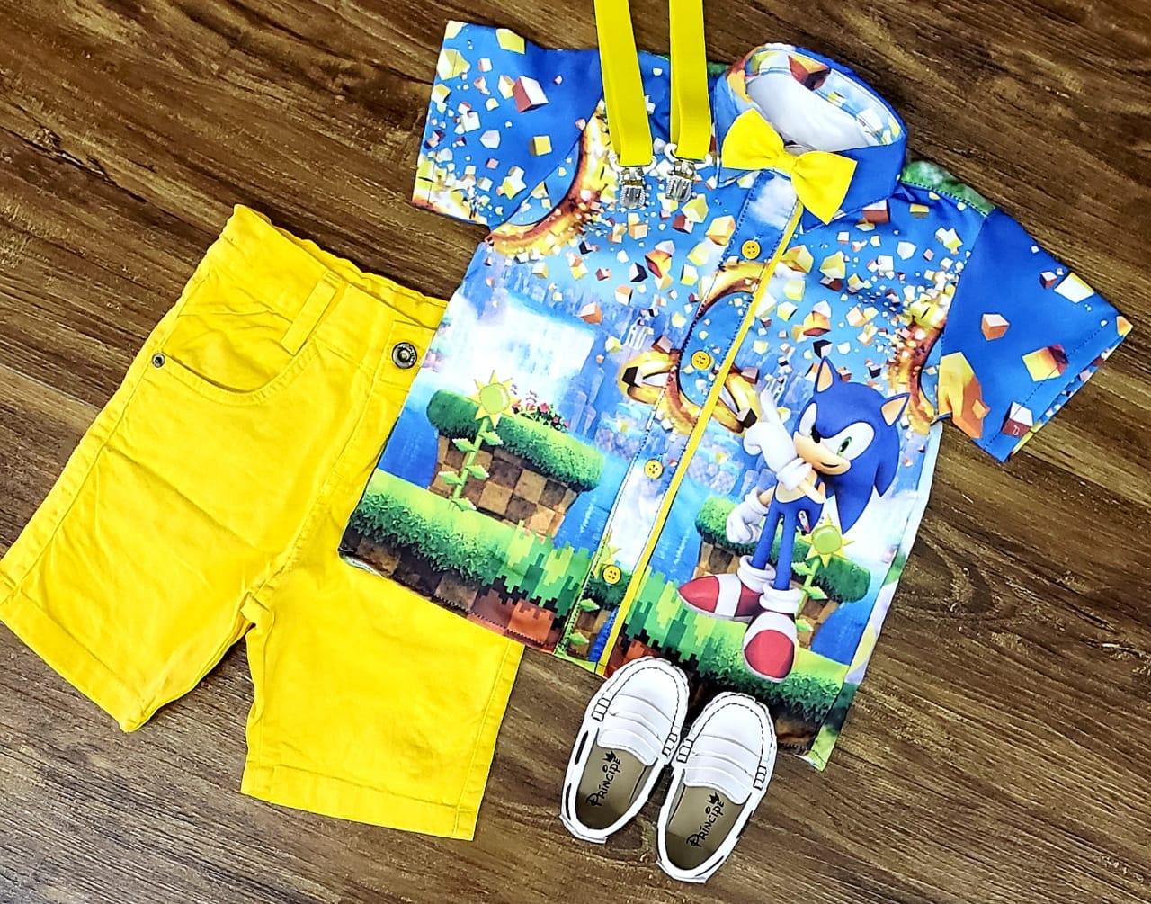 Roupa Sonic Infantil